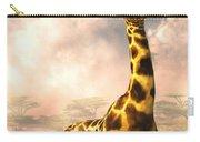 Sitting Giraffe Carry-all Pouch