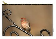 Sitting Pretty Red House Finch Carry-all Pouch