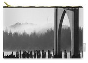 Siuslaw River Bridge Florence Oregon Black And White Carry-all Pouch