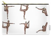 Six Different Views Of Dancer Yoga Pose Carry-all Pouch