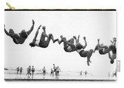 Six Men Doing Beach Flips Carry-all Pouch