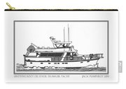 Sixtyfive Foot Defever Trawler Yacht Carry-all Pouch by Jack Pumphrey