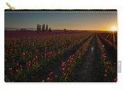 Skagit Dusk Tulip Fields Carry-all Pouch