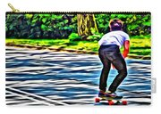 Skateboarder In Central Park Carry-all Pouch