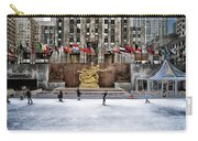 Skating At Rockefeller Plaza Carry-all Pouch
