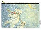 Skating Polar Bears Carry-all Pouch