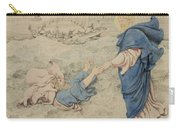 Sketch Of Christ Walking On Water Carry-all Pouch by Richard Dadd