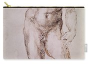 Sketch Of David With His Sling Carry-all Pouch by Michelangelo Buonarroti