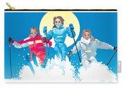 Ski Fun Art Carry-all Pouch