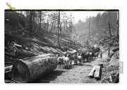 Skidding Redwood Logs C. 1890 Carry-all Pouch