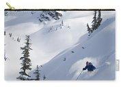 Skier Hitting Powder Below Nak Peak Carry-all Pouch