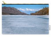 Skiing On Frozen Lake Laberge Yukon Canada Carry-all Pouch