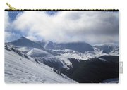 Skiing With A View Carry-all Pouch by Fiona Kennard