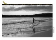 Skimboarder Sunser #1 - Black And White Carry-all Pouch