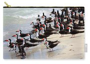 Skimmers On The Beach Carry-all Pouch by Carol Groenen