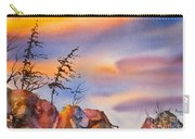 Skinny Trees Windy Day Carry-all Pouch