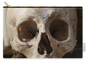 Skull And Old Book Carry-all Pouch