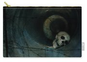 Skull In Drainpipe Carry-all Pouch