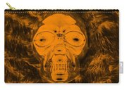 Skull In Negative Orange Carry-all Pouch