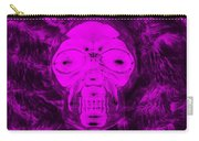 Skull In Negative Purple Carry-all Pouch