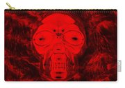 Skull In Negative Red Carry-all Pouch