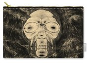 Skull In Negative Sepia Carry-all Pouch