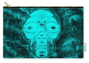 Skull In Negative Turquois Carry-all Pouch