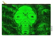 Skull In Radioactive Negative Green Carry-all Pouch