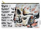 Skull Quoting Oscar Wilde.3 Carry-all Pouch