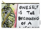 Skull Quoting Oscar Wilde.9 Carry-all Pouch