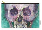 Skull Vampire Oil Portrait Carry-all Pouch