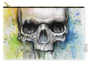 Skull Watercolor Painting Carry-all Pouch