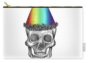 Skull With Rainbow Hat Carry-all Pouch