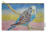 Sky Blue Budgie Carry-all Pouch