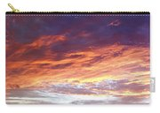 Sky On Fire Carry-all Pouch by Les Cunliffe