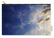 Sky Plane Bird From The Series The Imprint Of Man In Nature Carry-all Pouch