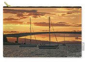 Skye Bridge Sunset Carry-all Pouch by Chris Thaxter