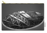 Skylight Gurders In Black And White Carry-all Pouch