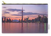 Skyline At Dusk From Centre Island Carry-all Pouch
