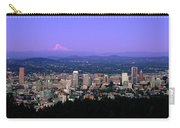 Skylines In A City With Mt Hood Carry-all Pouch