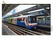 Skytrain Carriage Metro Railway At Nana Station Bangkok Thailand Carry-all Pouch