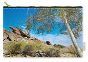 Slanted Rocks And Sycamore Tree  In Andreas Canyon In Indian Canyons-ca Carry-all Pouch
