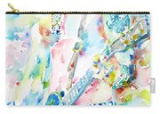 Slash Playing Live - Watercolor Portrait Carry-all Pouch