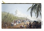 Slaves Cutting Sugar Cane, 19th Century Carry-all Pouch