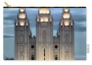 Slc Temple Blue Carry-all Pouch by La Rae  Roberts
