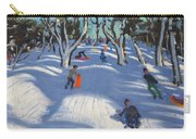 Sledging At Ladmanlow Carry-all Pouch by Andrew Macara