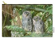 Sleeping Barred Owlets Carry-all Pouch