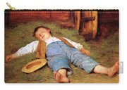 Sleeping Boy In The Hay Carry-all Pouch