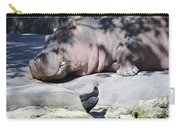 Sleeping Hippo Carry-all Pouch
