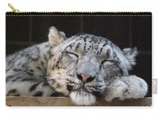 Sleeping Snow Leopard Carry-all Pouch